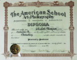 American School of Art and Photography Diploma, 1906