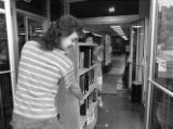 Library move out of Alumni Memorial Hall, 1992