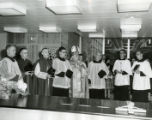 Dedication of Alumni Memorial Library, 1960