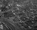 Aerial view of campus, 1958