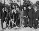 Nevils and Driscoll Halls ground breaking, 1964