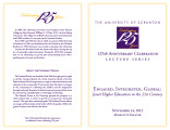 125th Anniversary lecture program, 2013