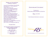 125th Anniversary luncheon program, 2013