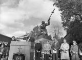 Dedication of Metanoia sculpture, 1988