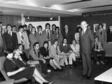 Judge Nealon visits Pre-Law Society, 1976