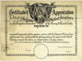 Certificate of Appreciation to veterans, 1919